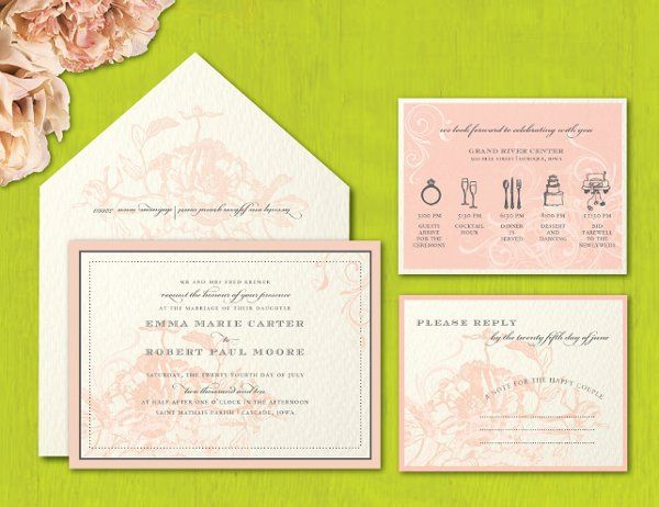 Tmx 1274374277010 Flowerandtimeline Dubuque wedding invitation