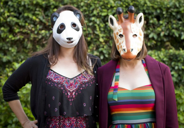Panda and Giraffe party guests