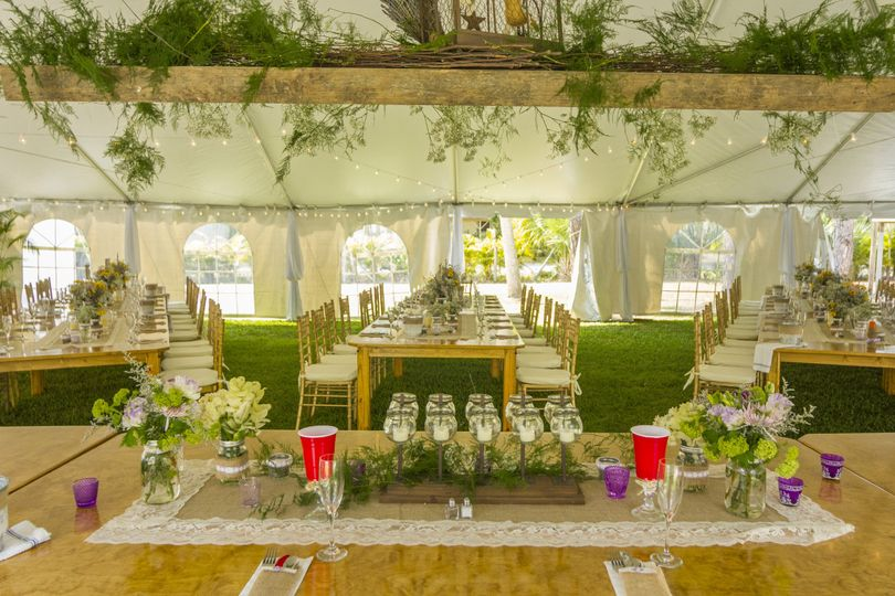 Nature themed reception