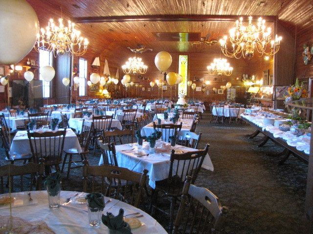 The lovely Main Dining Room of The Gift Horse Restaurant!  The mahogany buffet table is 28' long &...