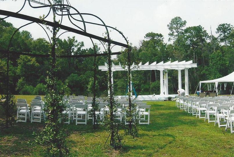 The Gift Horse Safe Harbour Plantation all set up for a Wedding!