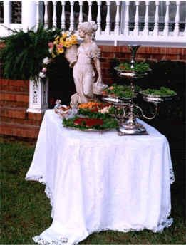 Outdoor Event Salad Table.