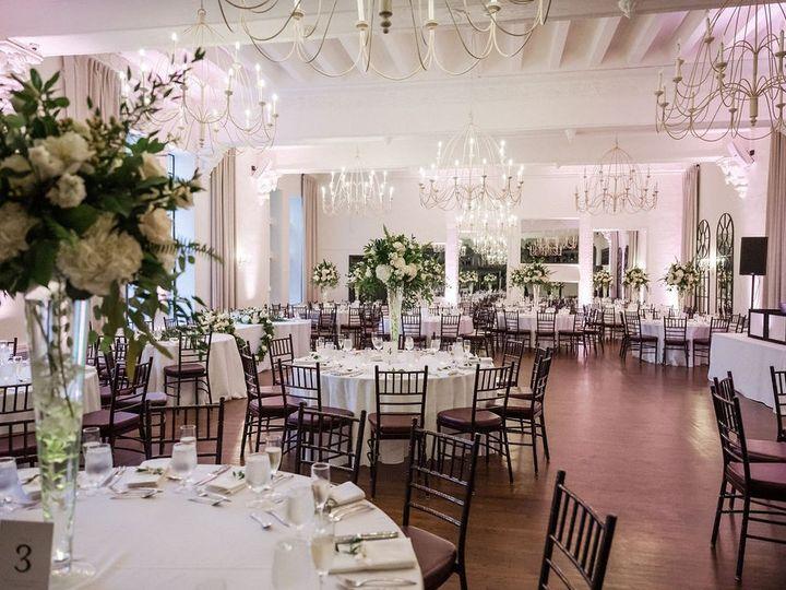 Tmx Alden Castle Vintage Ballroom Reception White And Green Tall Florals 1 Amanda Macdonald Photography 51 3759 158464309630929 Brookline, MA wedding venue