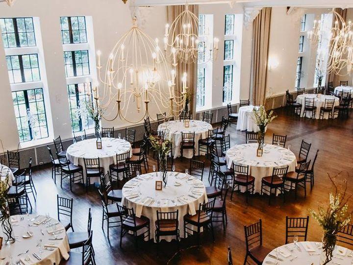 Tmx Alden Castle Vintage Ballroom Tall Centerpieces Lauren Sawyer Photography 51 3759 Brookline, MA wedding venue