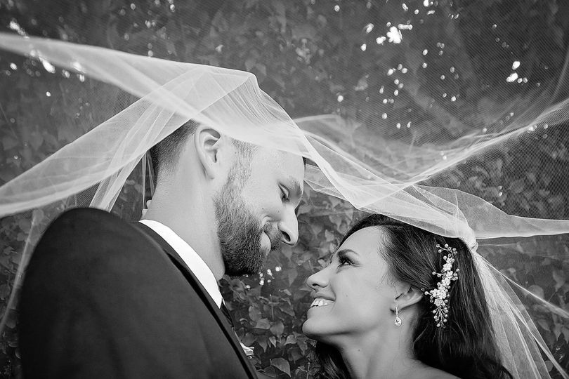 Couple in veil