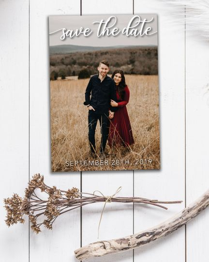 Custom picture Save the date