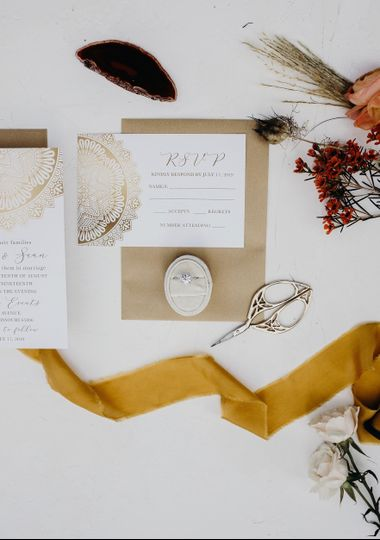 BoHo Invitation and RSVP