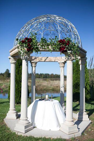 Elegant gazebo wedding