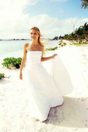Bride in the beach