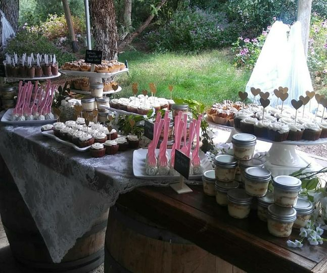 Rustic Dessert Table Setting