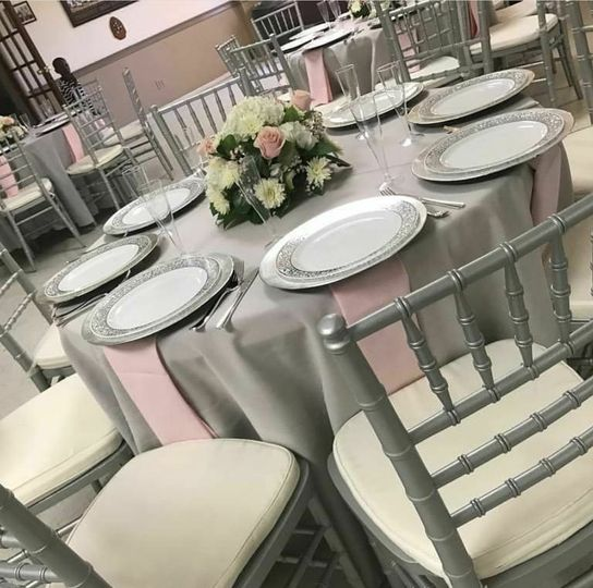 Gray & Pink Wedding Decor