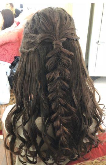 Jr Bridesmaid hair