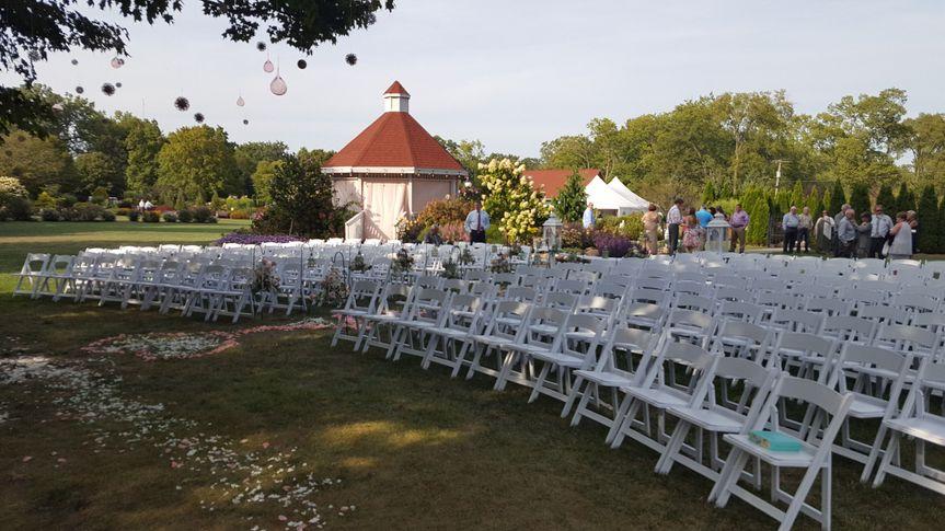 The wedding setup