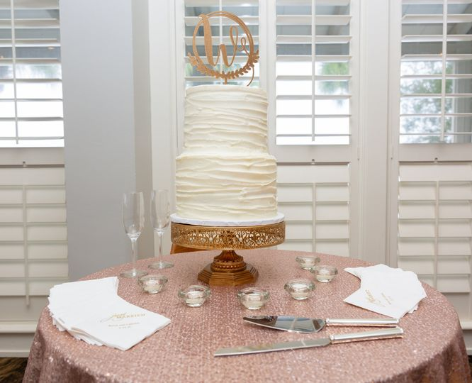 Wedding cake display