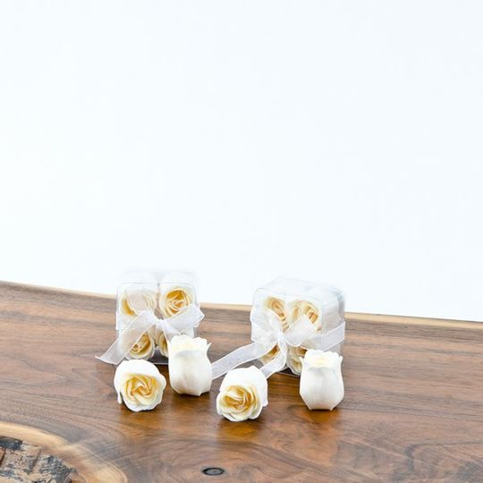 $1.25 each  Pamper yourself or someone special with these rose-scented bath soaps shaped like...