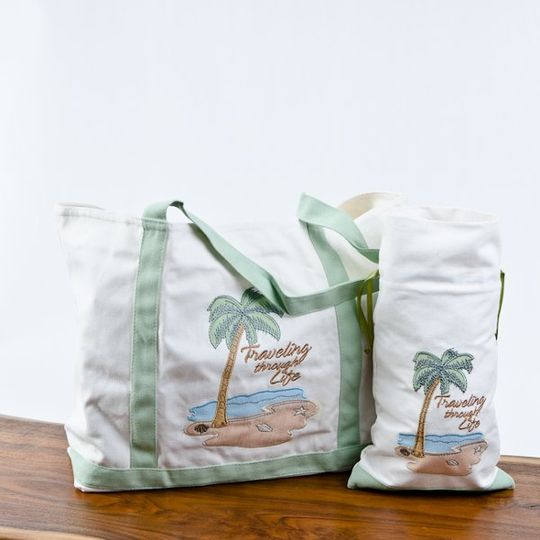 """Small-$8.79 Large - $15.39  Use your """"Traveling Through Life"""" canvas tote bags as you travel through..."""