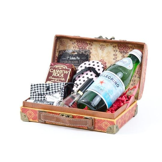 $59.79  Inevitably, the bride will forget something on her wedding day.  This gift basket...