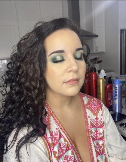 Colorful makeup look!