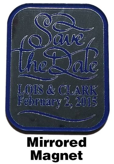 save the date mirrored magnet lois and clark