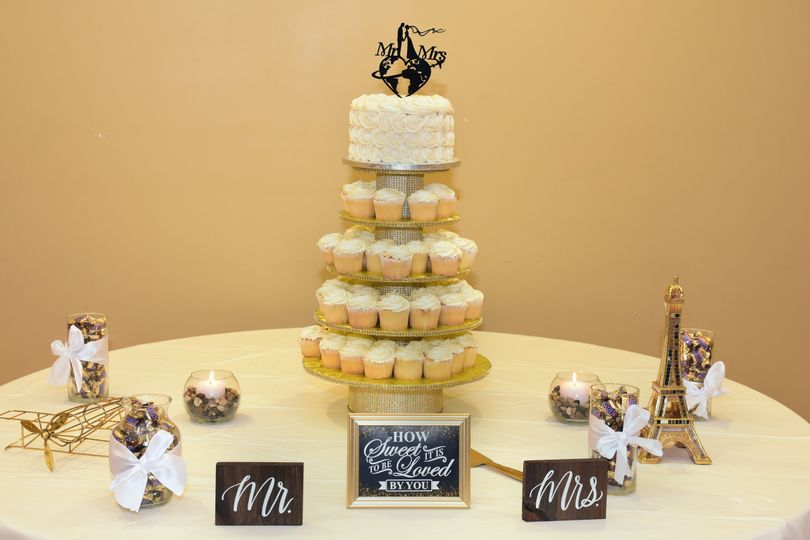 Dessert table for mr. And mrs.