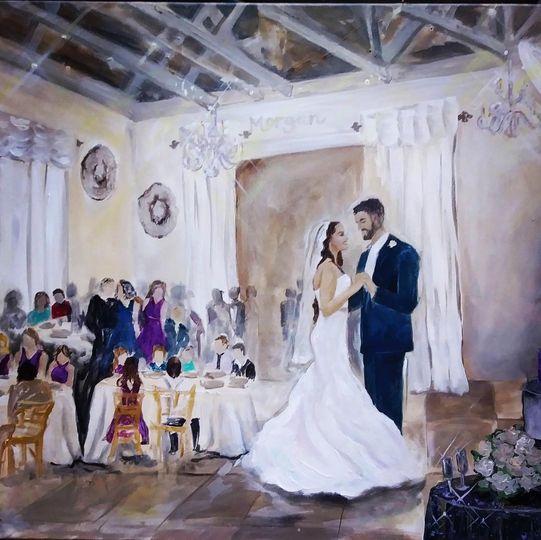 Mr. & Mrs. Morgan dancing