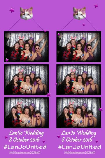 Film strip of the ladies in the booth