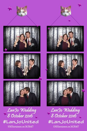Couple's booth film strip