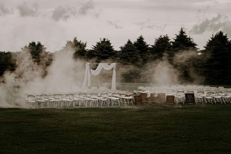 Ceremony set up - Devon & Rachel Photography