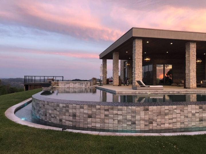 Estate Pool from Fire-Pit