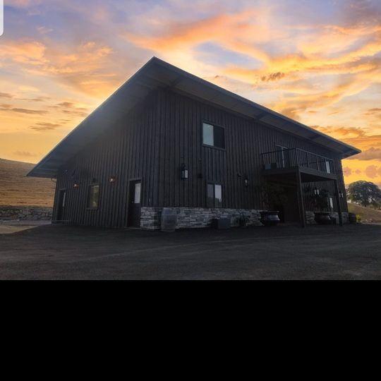 """The Barn"" at Sunset"