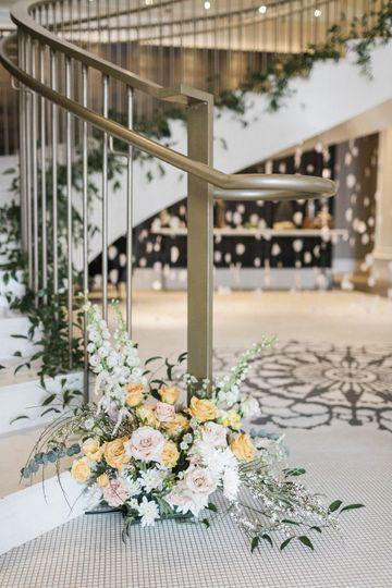 Stair florals