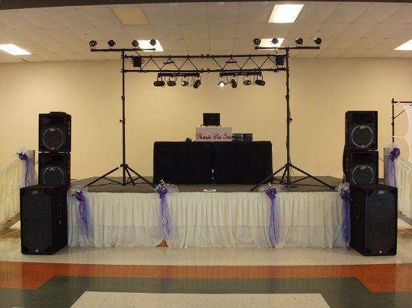 Dj stage setup