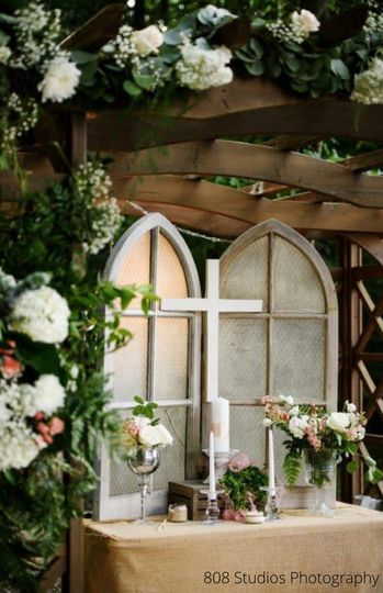 Beautifully Decorated Pergola