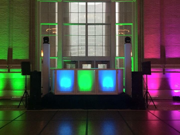 Tmx Dj Booth Set Up Blue Green 51 1925859 159062690383505 Arlington, TX wedding dj