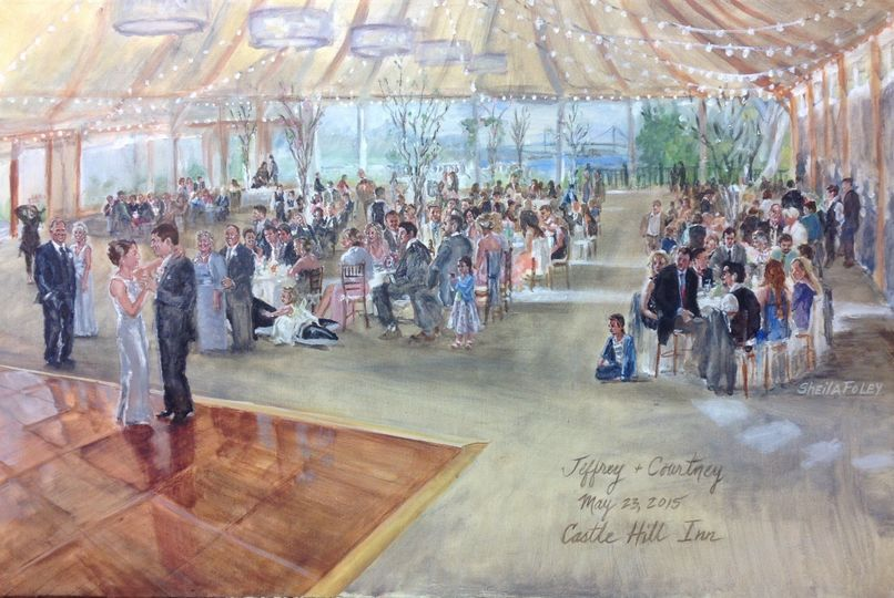 Newport wedding, Castle Hil Inn