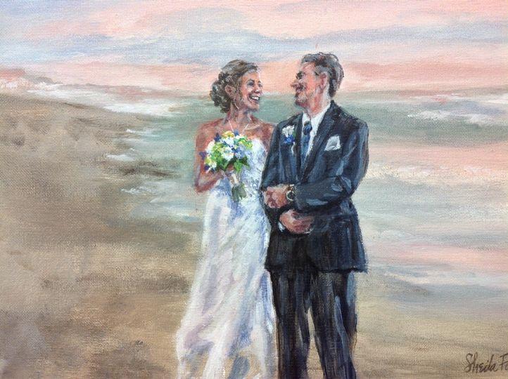 Beach wedding, Salisbury, MA