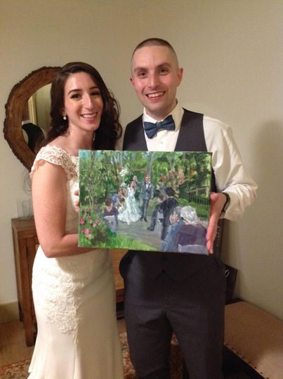 Happy couple at Briar Barn Inn