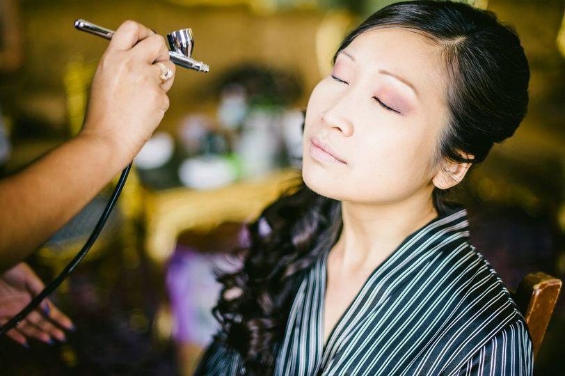 Airspray makeup
