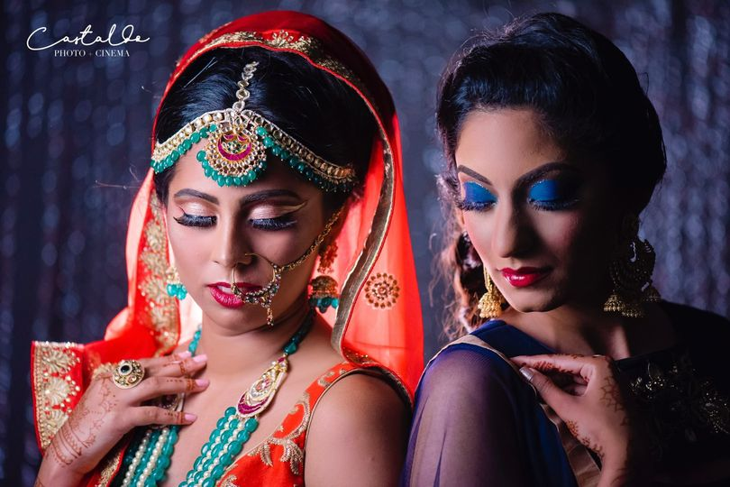 Traditional wear and makeup