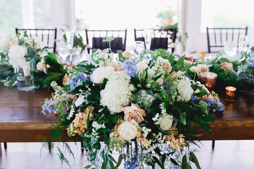 Florals and farmhouse table