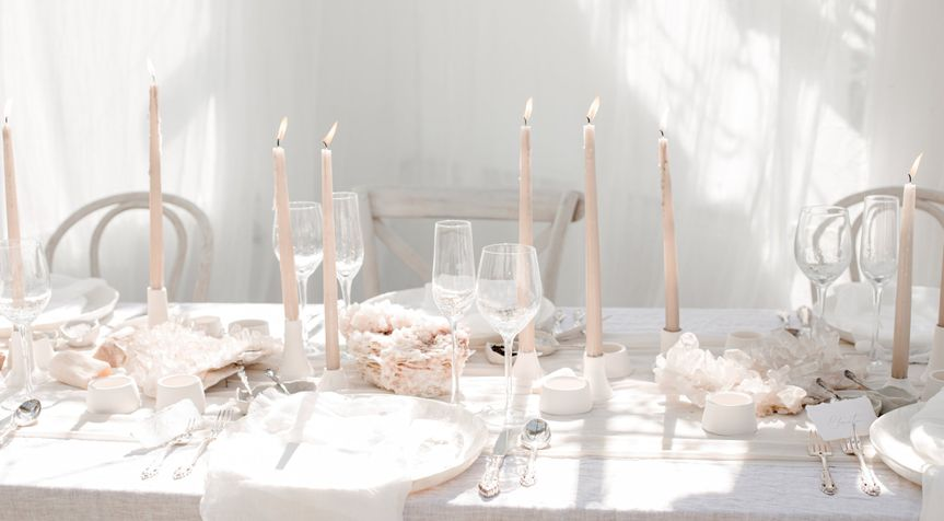 close up of pink and white wedding table setting 51 1036859 159941994168753