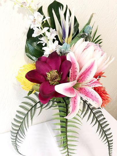 Silk tropical bouquet