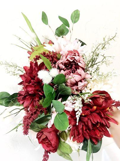 Silk Dahlias bouquet