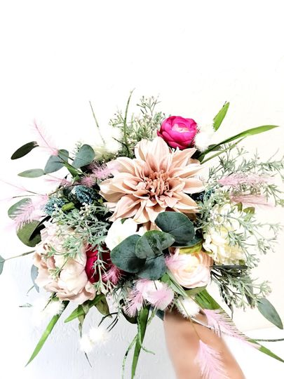 Silk bridal boho bouquet