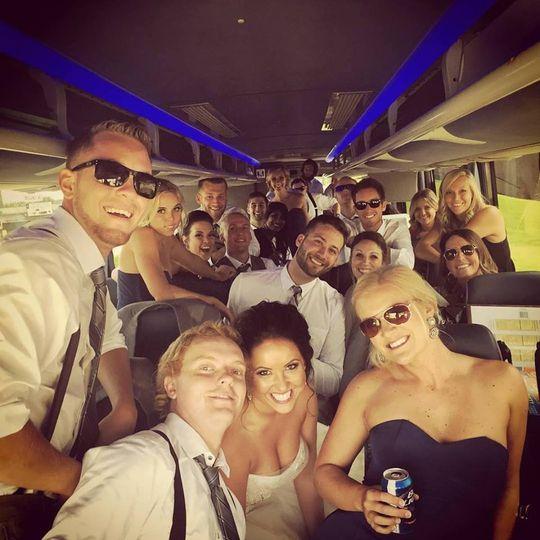 Wedding party transportation