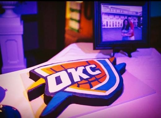 Oklahoma City Thunder groom's cake