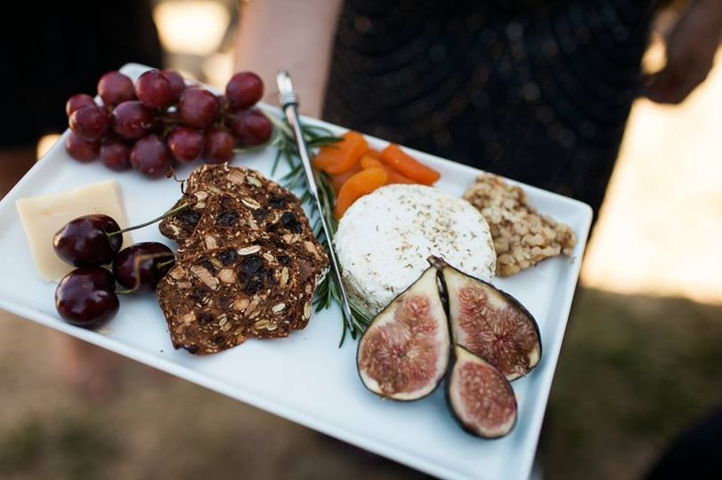 Mini cheese platter for the bride and groom  Photo courtesy of Kate Price Photography