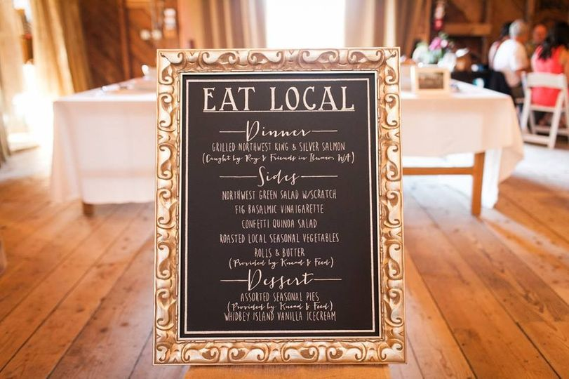 Eat local!  Photo courtesy of Kate Price Photography
