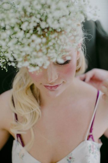 Stylish floral crown