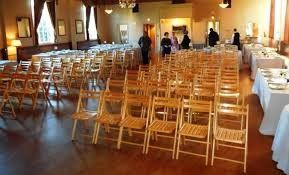 pine wood folding chairs provided and set up for you